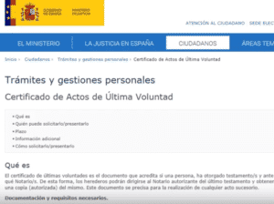 cómo solicitar ultimas voluntades